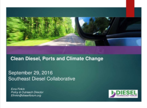 Clean Diesel Ports and Climate Change