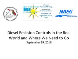 Diesel Emission Control